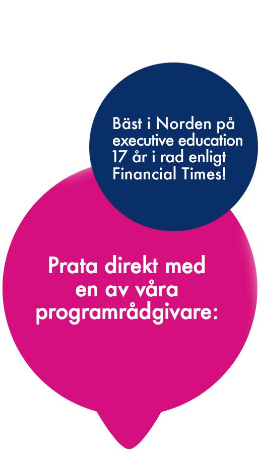 Prata direkt med en av våra programrådgivare: 08 - 586 175 60. programadvisors@exedsse.se
