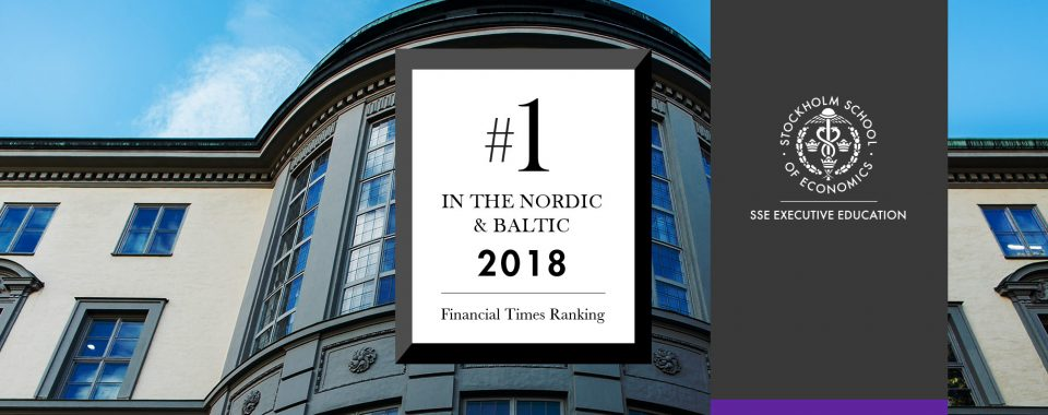 SSE Executive Education ranks #1 for the Nordic and Baltic region for 2018