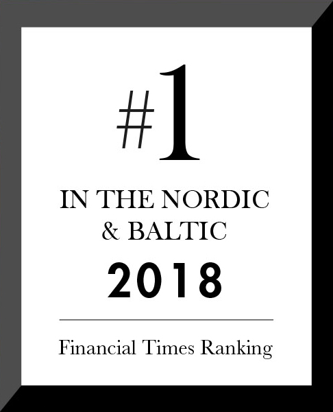 SSE Executive Education is ranked as the best provider of executive education in the Nordic and Baltic region since 2001.