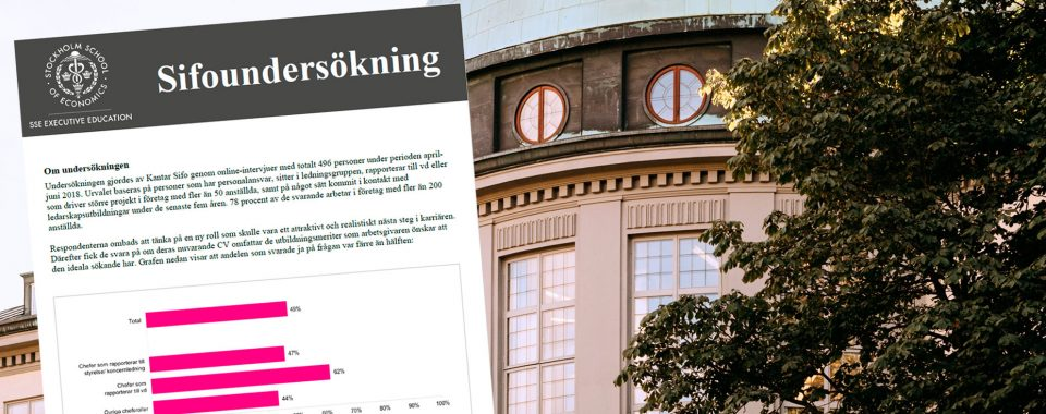 Swedish executives rate their own CVs as inadequate, according to studie by SSE Executive Education/Kantar Sifo